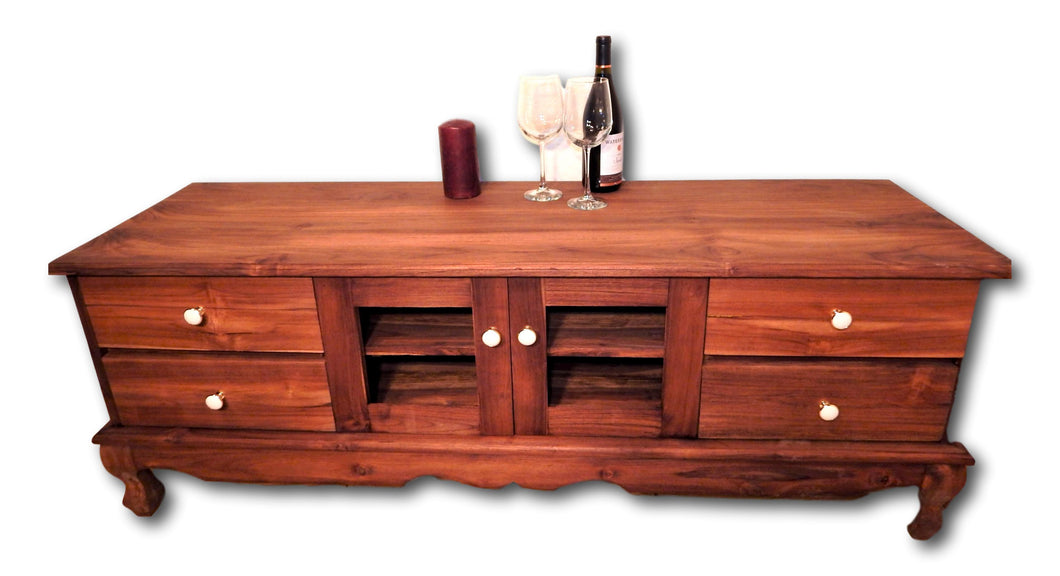 Solid teak wood television cabinet in Seattle: Roots Hardwood Furniture & Tiles