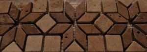 "Travertine 4"" x 12"" mosaics from natural stone"