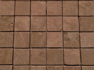 "Travertine 12"" x 12"" tumbled tile from Natural stone"