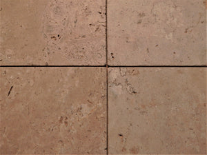 "Travertine tile 4"" x 4""  tumbled from Natural stone"