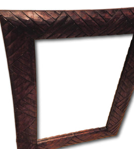 Wall mirror hand carved frame from Reclaimed wood