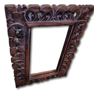 Wall mirror in frame handcrafted from Reclaimed wood