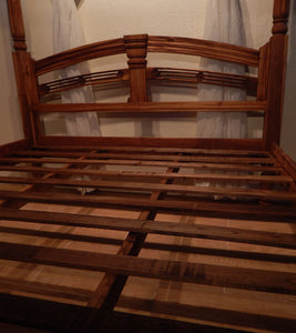 Teak wood 4 post bed in San Francisco | Roots Hardwood Furniture & Tiles