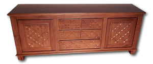 Hand Carved Teak Furniture Credenza: Seattle's Roots Cabinets & Tiles for delightful handcrafted teak credenza's, solid teak wood sideboard & credenza, reclaimed teak wood credenza, teak wood dining room credenza, modern teak credenza, teak shaker