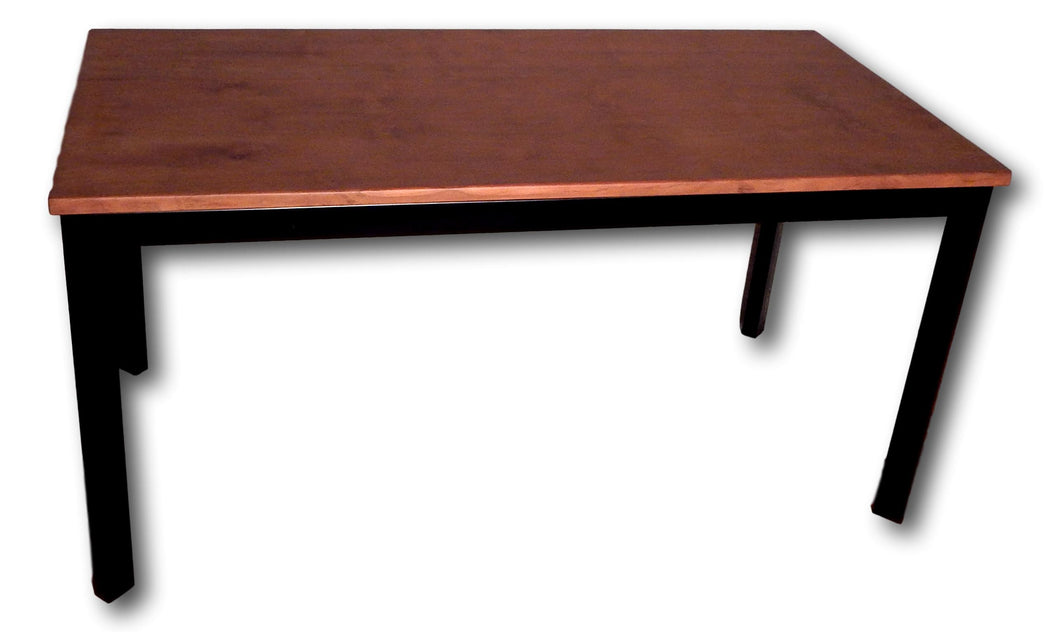 Table handcrafted from metal and Teak wood