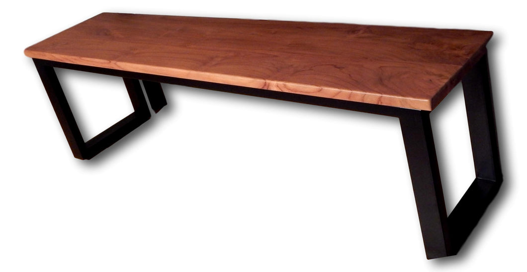 Teak bench with metal in New York | Roots Hardwood Furniture & Tiles