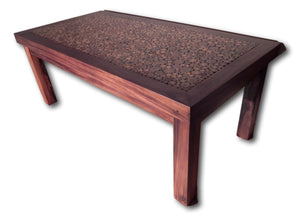 Table handcrafted from Suar wood