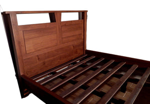 Teak wood bed frame in San Francisco | Roots Hardwood Furniture & Tile