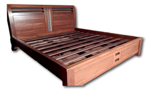 Teak wood beds & bed frame in San Diego | Roots Hardwood Furniture & Tiles