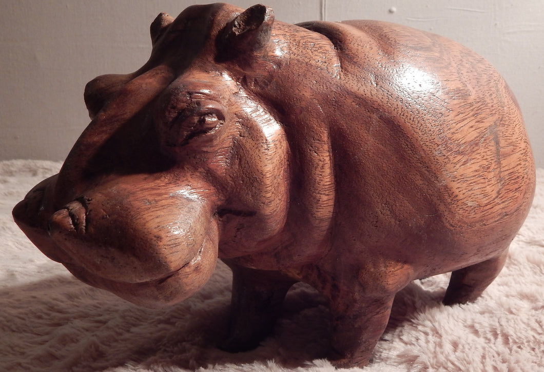 Hippo handcrafted from Teak wood