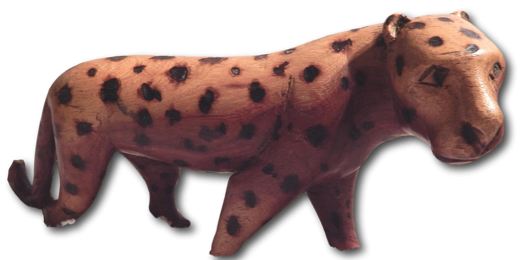 Leopard handcrafted from Teak wood