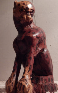 Leopard wood carving from Teak wood
