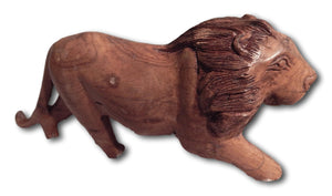 Lion handcrafted from Seringa wood
