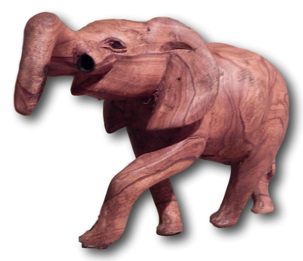 Elephant Wood Carving Sculpture 2: Roots Cabinets & Tile