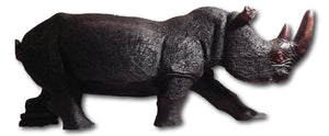 Rhino sculpture from Iron wood