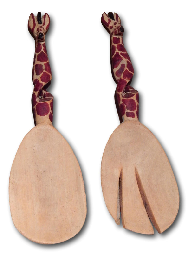 Wood spoon set handcrafted from Seringa wood