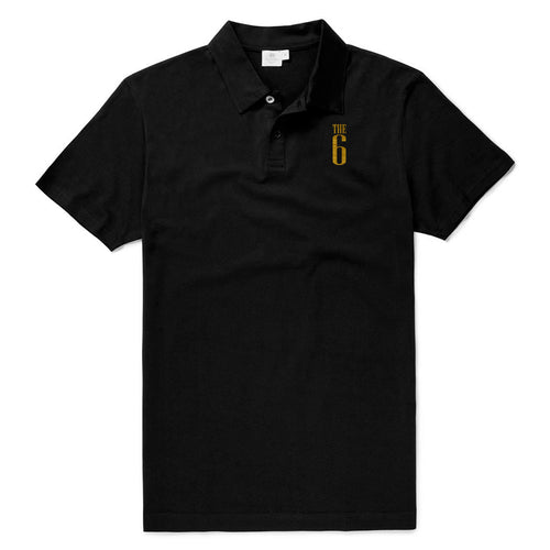 THE 6 CLASSIC I Cotton Men's Polo - Black