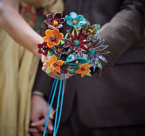 Glass Wedding Bouquet
