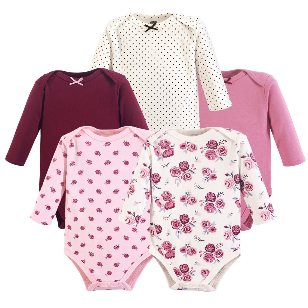5 piece rose bodysuits-The Baby Gift People