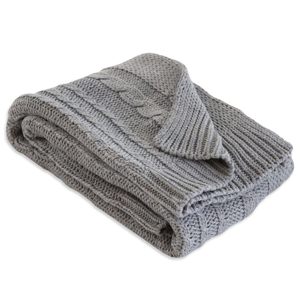 Organic Baby Cable Knit Sweater Blanket-The Baby Gift People