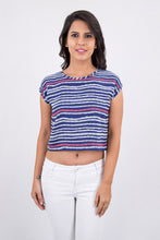 Aztec Printed Crop Top