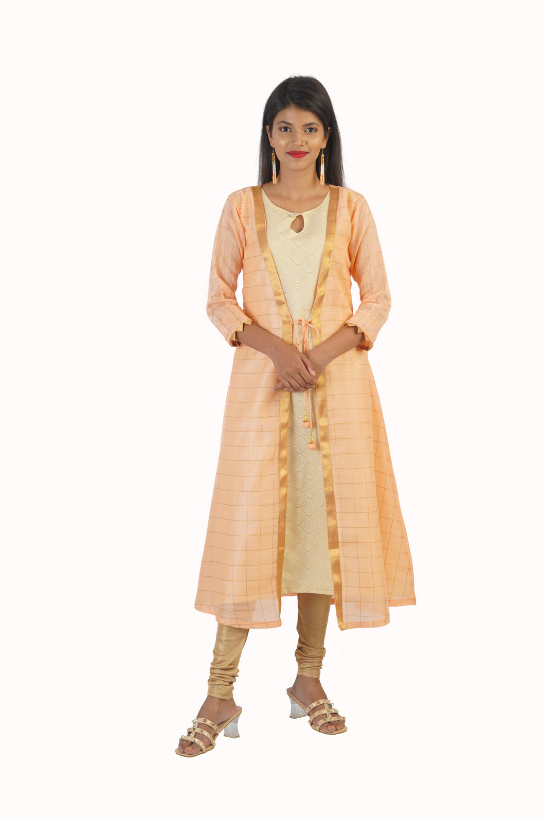 Peach Princess Two Piece Kurta Dress