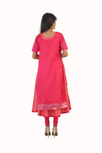 Pink Two Piece Kurta Dress