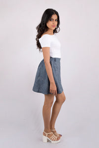 Denim Skater Skirt
