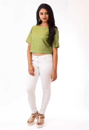 Jade Green Crop Top