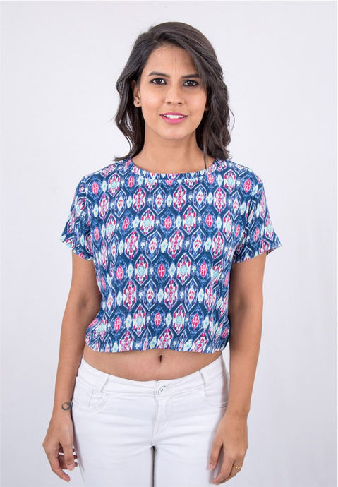Tribal Printed Crop Top