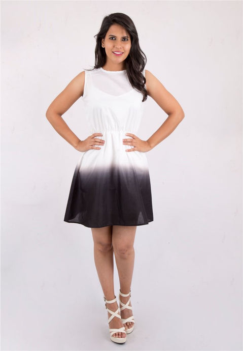 B&W Ombre Dress