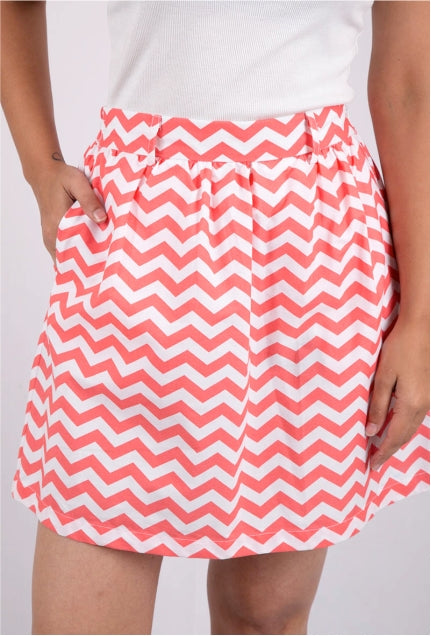 Orange Chevron Skirt