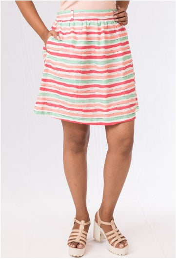 Pastel Striped Skirt