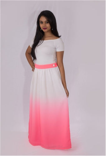 Pink Ombre Maxi Skirt