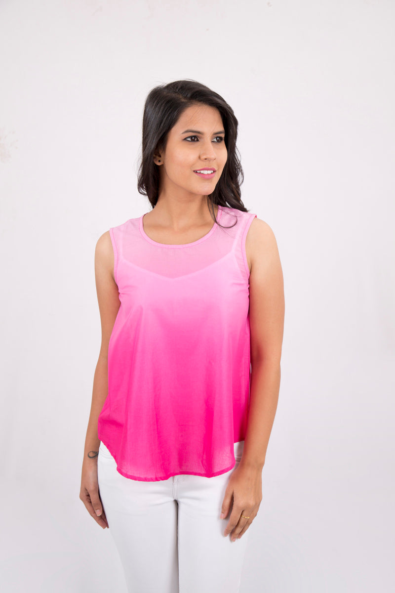 Pink Ombre Tank Top