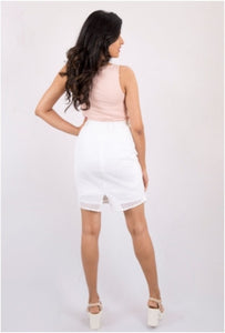 White Swan Pencil Skirt