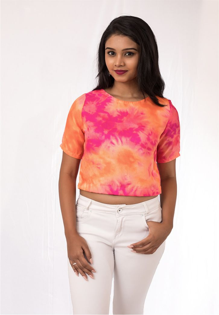 Sunset Batik Crop Top