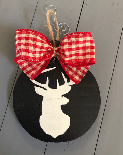 Deer-Ornament-Buffalo Check