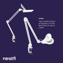 Load image into Gallery viewer, Adjustable Replacement Clamp for Lamps - White