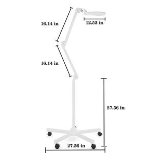 Bifocals 1,200 Lumens Super LED Magnifying Floor Lamp - White