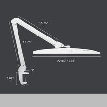 "Load image into Gallery viewer, 22.8"" Elite HD XL 1360 Lumens Task Lamp with Clamp - White"