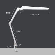 "Load image into Gallery viewer, 17.7"" Wide Shade Elite HD XL Task Lamp with Clamp - White"