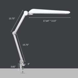 "17.7"" Wide Shade Elite HD XL Task Lamp with Clamp - White"