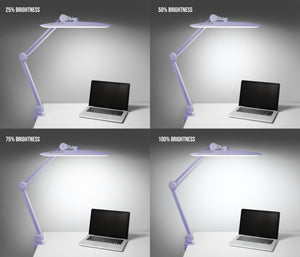 "20"" Wide Shade XL 2,200 Lumens LED Task Lamp - Lavender"