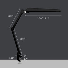 "Load image into Gallery viewer, 17.7"" Wide Shade Elite HD XL Task Lamp with Clamp - Black"