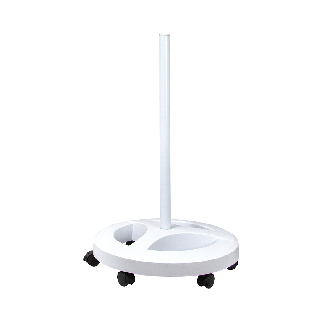 Floor Stand with 6 Wheels Rolling Base - White