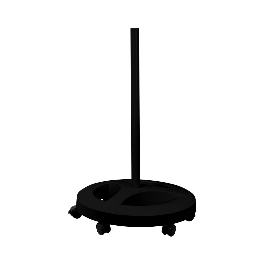 Floor Stand with 6 Wheels Rolling Base - Black