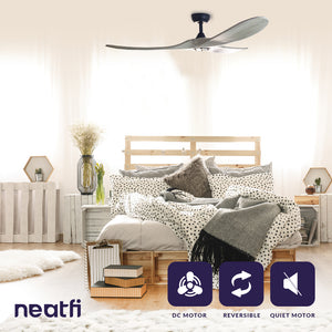 "60"" DC Motor Reversible Ceiling Fan - Gray"