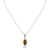 14K Yellow gold pendant necklace with citrine and diamonds