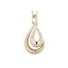 14K YELLOW GOLD FREE FORM DIAMOND FASHION NECKLACE